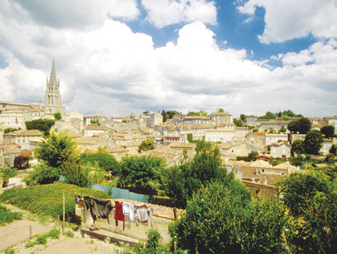 Arial view of St Emilion - Aquitaine