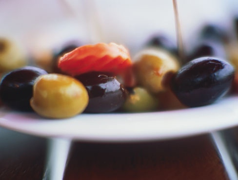 Dish of olives
