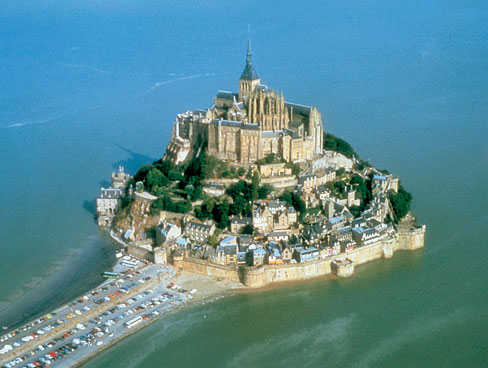 Aerial view Mont St Michel - Normandy