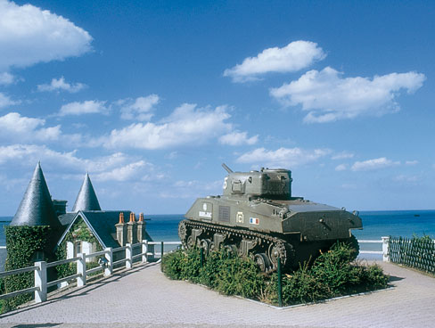 Historic tank at Arromanches - Normandy