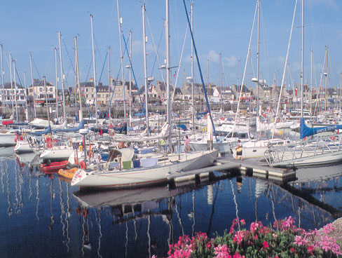 The harbour at St Vaast Normandy