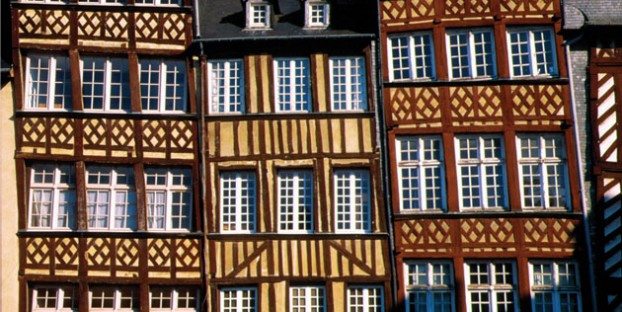 Beautiful half timbered houses in Rennes