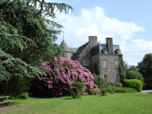 The grounds of Chateau le Val in Normandy