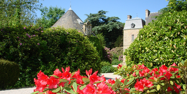 Entrance to Chateau le Val, Manche, Normandy
