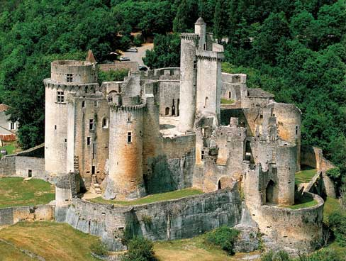 Bonaguil Castle in the Lot Valley France