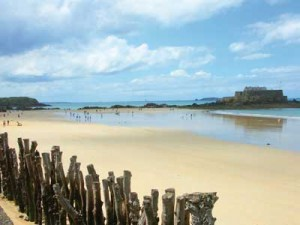 Beach at St Malo, Brittany, France