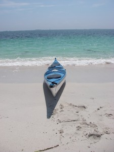 Kayak on Iles de Glenan beach in France