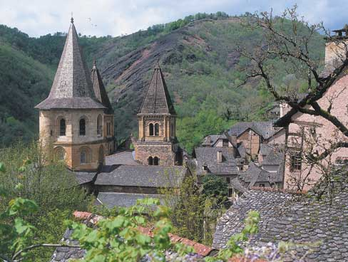 Conques in the Lot Valley France