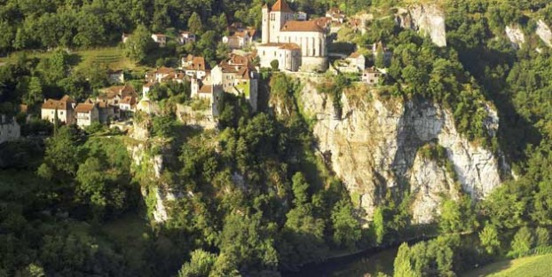 St Cirq Lapopie in the Lot Valley, France