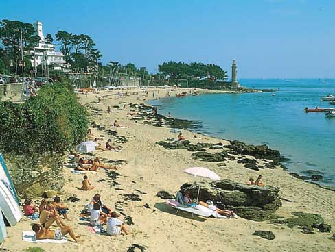 Benodet beach Brittany