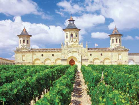 Chateau in the heart of Bordeaux vineyards
