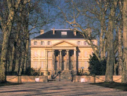 Chateau Margaux in Medoc country