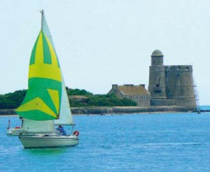Vauban Tower and yacht