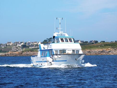 Boat to Ile de Batz Brittany