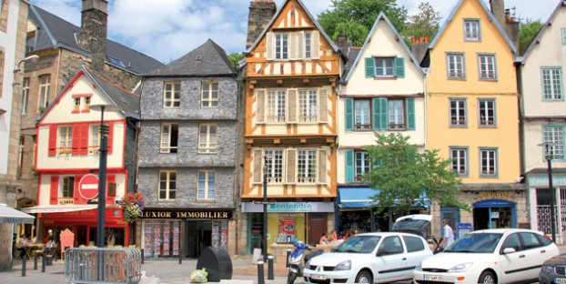 Half timbered houses, Morlaix, Brittany