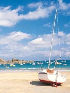Beautiful beach in Brittany
