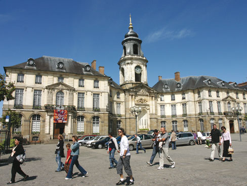 Town hall square Rennes