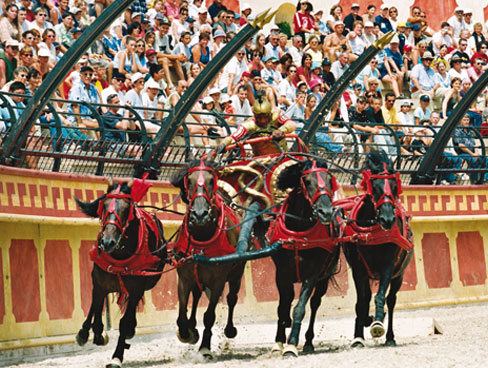 Chariot racing at Puy du Fou